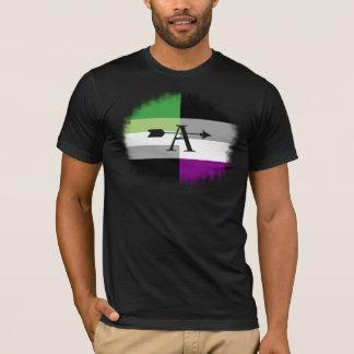 Camisa asexual del as de Aromantic Aro