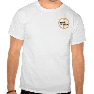 Camisa asustada del idiota del pueblo de