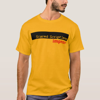 Camisa asustada del logotipo de Scriptless Black