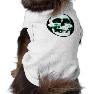 Camisa asustadiza del mascota del cráneo playera sin mangas para perro