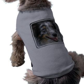 Camisa australiana linda del mascota del pastor camisa de mascota