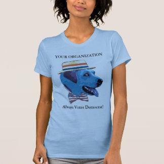 Camisa azul de Demócrata del perro