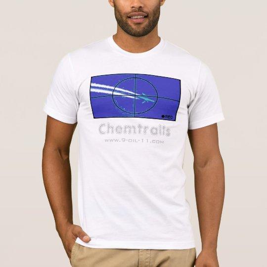 Camisa azul de la blanco de Chemtrails
