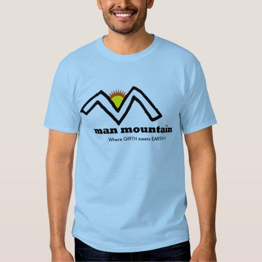Camisa azul de la montaña del hombre - natural