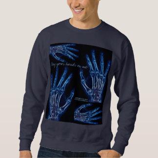 Camisa azul de la radiografía de la mano (diseño