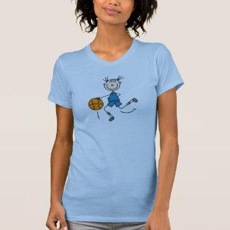 Camisa azul del baloncesto de los chicas