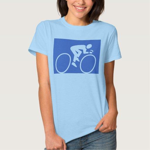 Camisa azul del ciclo