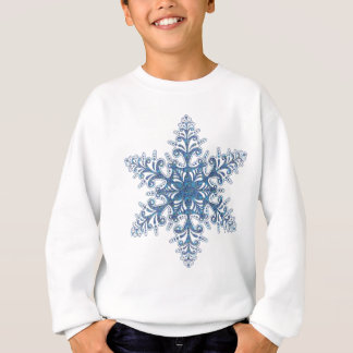 Camisa azul del copo de nieve