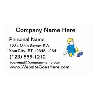 Camisa azul del muchacho con los polluelos amarill plantillas de tarjeta de negocio