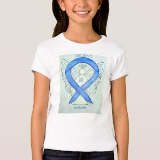 Camisa azul del personalizado del ángel de la