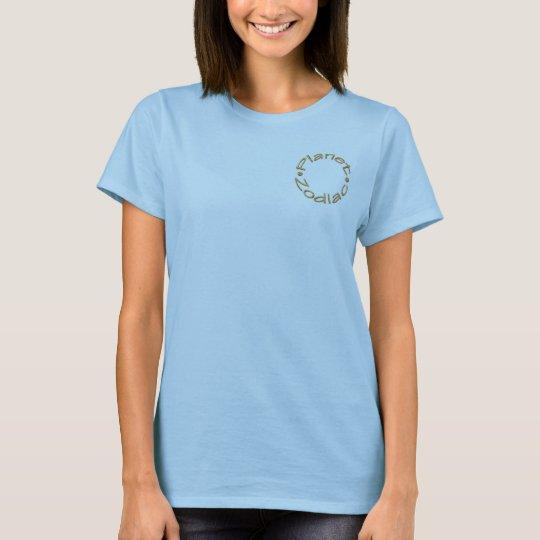 Camisa azul del símbolo del Capricornio