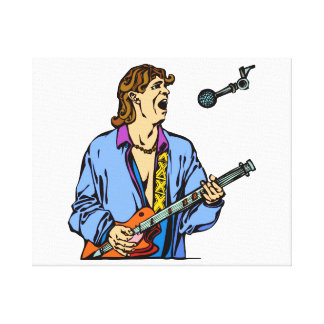 camisa azul realista masculina mic.png del cantant impresión en lienzo