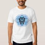 Camisa azul y negra de Calavera