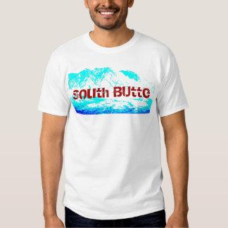 Camisa azul y roja de la mota del sur