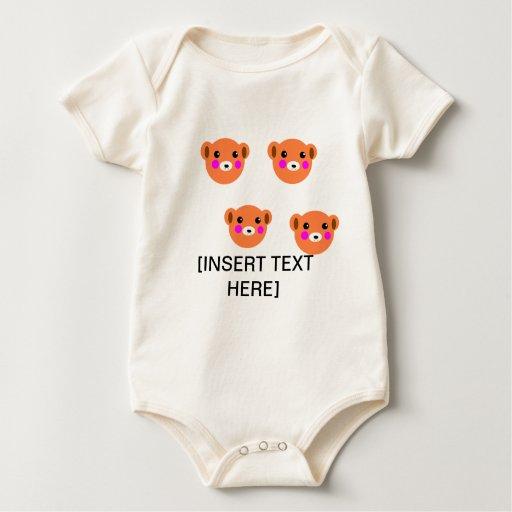 Camisa bien parecida linda del bebé del oso de