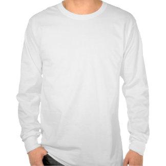 Camisa blanca de la manga larga con el logotipo