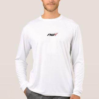 Camisa blanca de la microfibra del funcionamiento