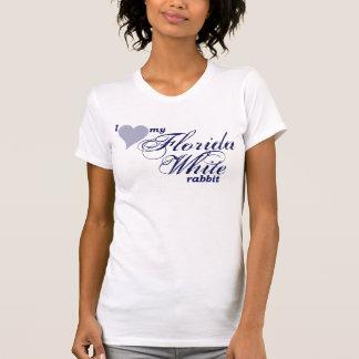 Camisa blanca del conejo de la Florida