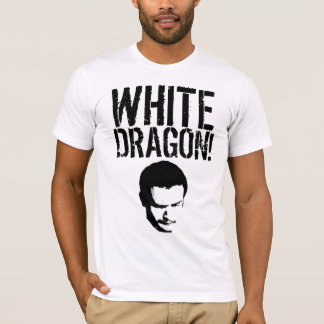 Camisa blanca del golpeador del dragón