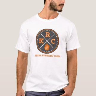 Camisa blanca del logotipo del club corriente de