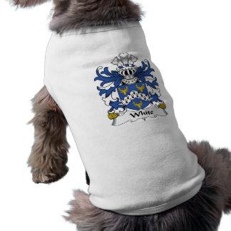 Camisa blanca del perro del escudo de la familia camisa de mascota