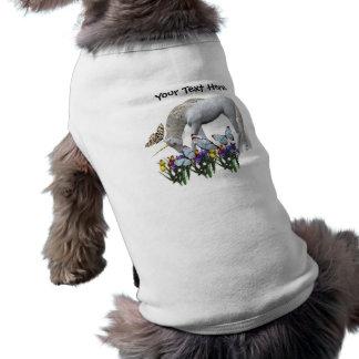 Camisa blanca del perro del unicornio y de las mar camisetas de perrito