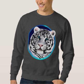 Camisa blanca enmarcada de la cara del tigre