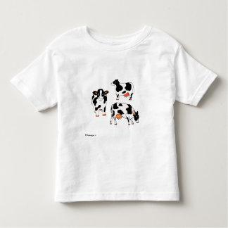 Camisa blanco y negro de tres vacas