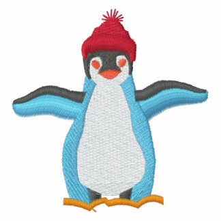 Camisa bordada adorable del pingüino