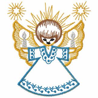 Camisa bordada ángel del navidad