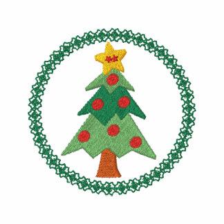 Camisa bordada árbol de navidad