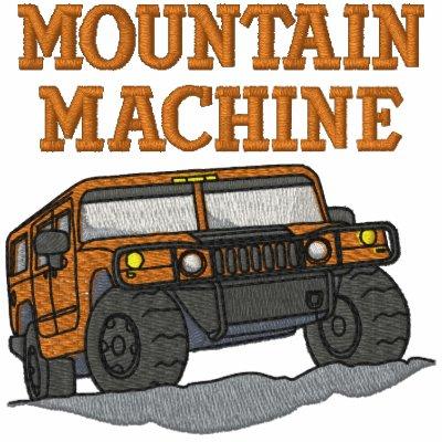Camisa bordada auto de la máquina de la montaña sudadera bordada con capucha