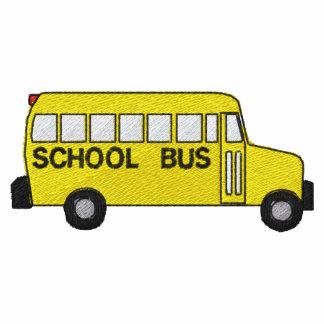 Camisa bordada autobús escolar camiseta polo bordada