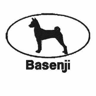 Camisa bordada Basenji oval (manga larga)