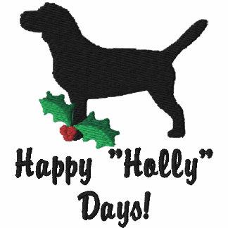 Camisa bordada beagle del acebo (envuelta de largo