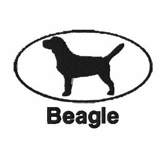 Camisa bordada beagle oval