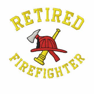 Camisa bordada bombero jubilada sudadera encapuchada