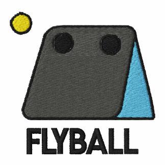 Camisa bordada caja de Flyball camiseta