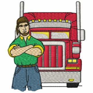 Camisa bordada camionero de la carga