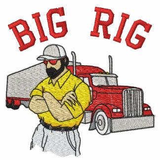 Camisa bordada camionero grande del aparejo