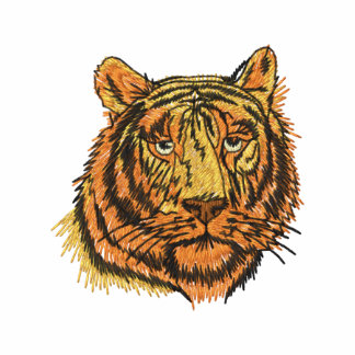 Camisa bordada cara del tigre