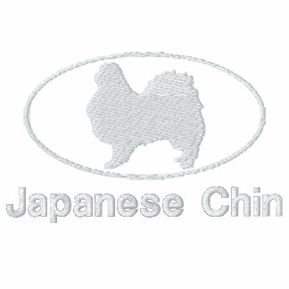 Camisa bordada Chin oval del japonés (oscura) Camiseta Polo
