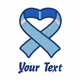 Camisa bordada cinta azul del corazón polo bordado de mujer