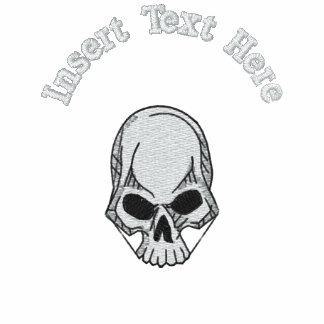 Camisa bordada cráneo de encargo camiseta polo bordada