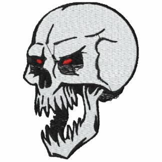 Camisa bordada cráneo de encargo sudadera encapuchada