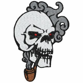 Camisa bordada cráneo de encargo sudadera bordada