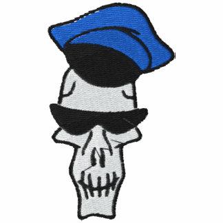 Camisa bordada cráneo de los marineros sudadera con capucha