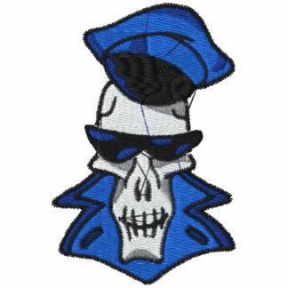 Camisa bordada cráneo fresco sudadera bordada con capucha