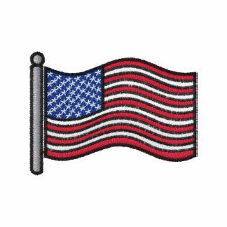 Camisa bordada de la bandera americana