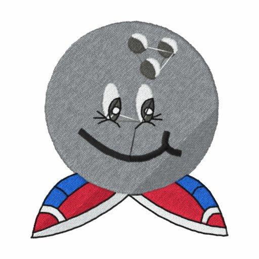 Camisa bordada de la bola de bolos